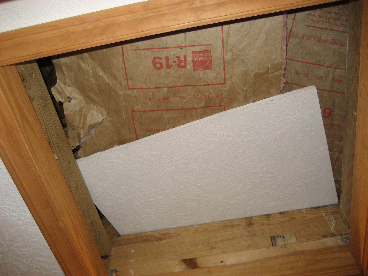 This attic hatch needs to be properly air-sealed