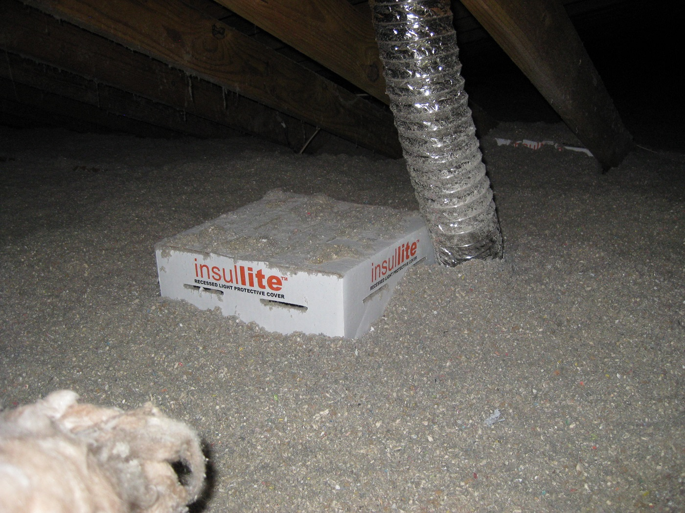 A purchased box to air seal recessed lights