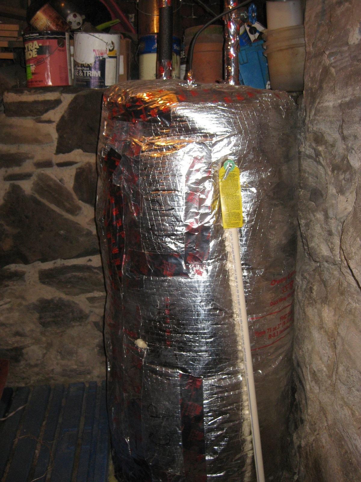 well-insulated water heater