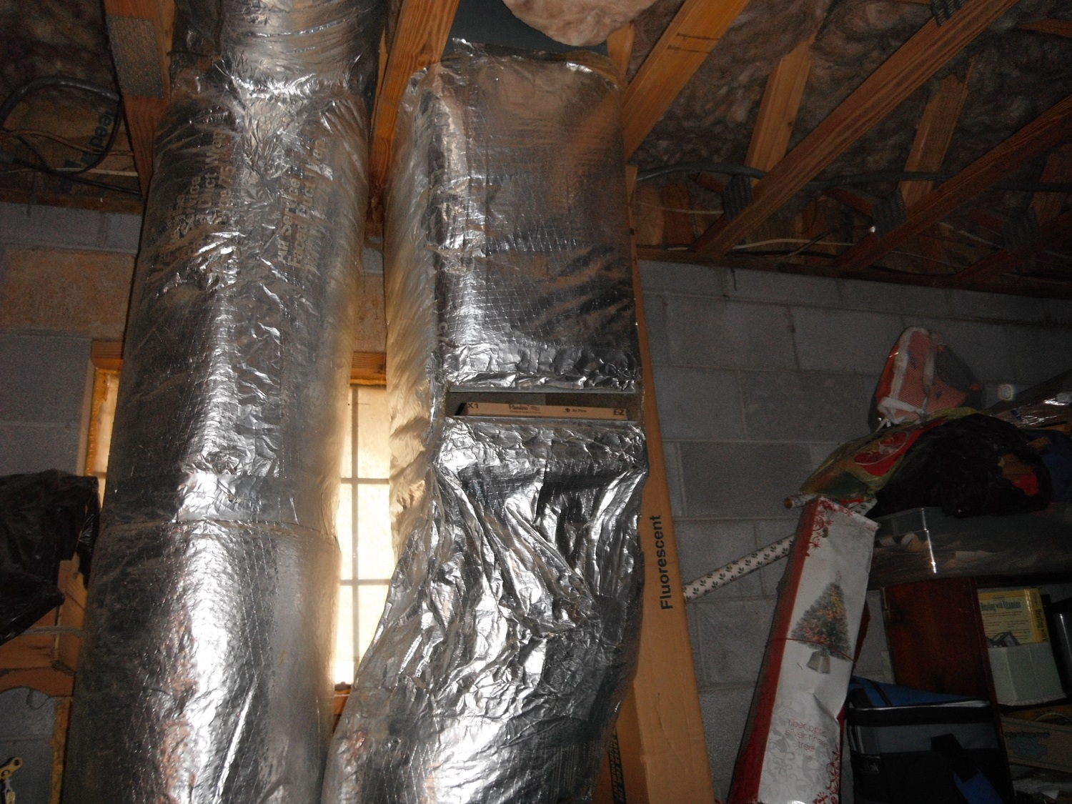 an open filter slot in the return duct means a poorly working duct system