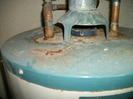 Likely sign of spillage. Call your HVAC professional to check it out.