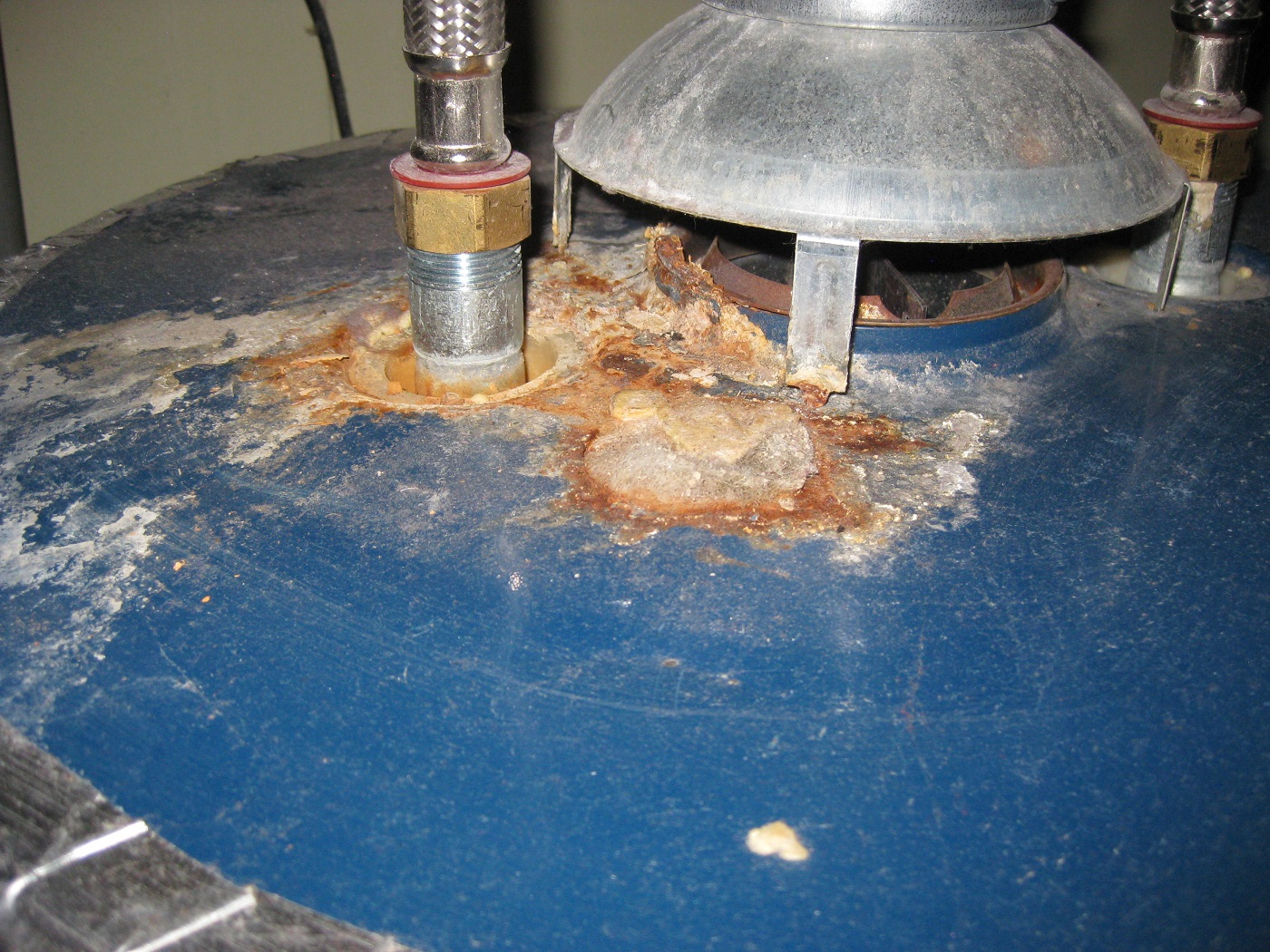 A very clear sign of spillage. Call an HVAC professional if you see this.